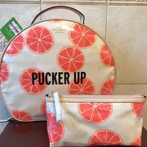 NWT KATE SPADE PUCKER UP PATSIE COSMETIC CASE SET